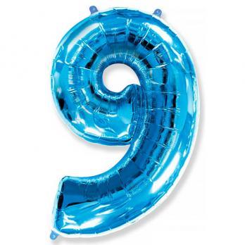 Шар Цифра 9 Синий