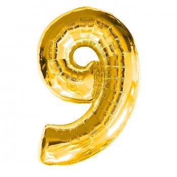 Шар Цифра 9 Золото
