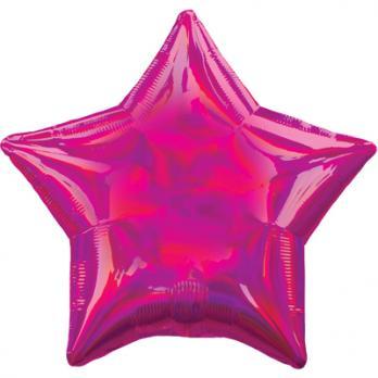 Шар фольга Блеск Звезда 45см. Малиновый