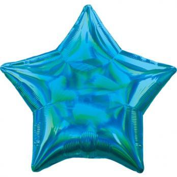 Шар фольга Блеск Звезда 45см. Голубой