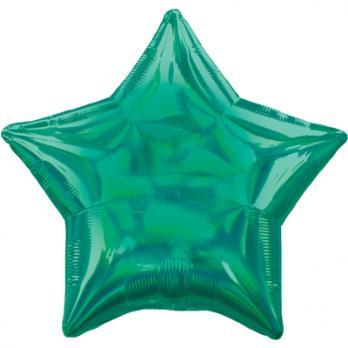 Шар фольга Блеск Звезда 45см. Зеленый
