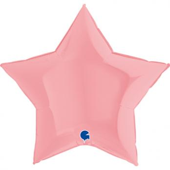 Шар фольга Звезда 90см. Пастель Светло-Розовый