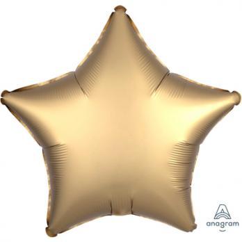 Шар фольга Звезда 45см. Сатин Золото