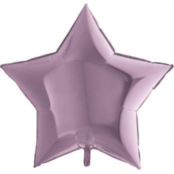 Шар фольга Звезда 90см. Металлик Сиреневый