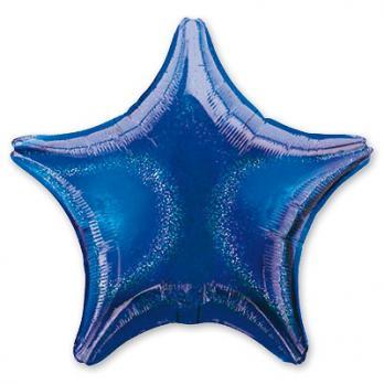 Шар фольга Блеск Звезда 45см. Синий