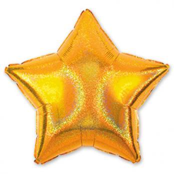 Шар фольга Блеск Звезда 45см. Золото