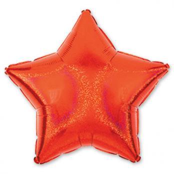 Шар фольга Блеск Звезда 45см. Красный