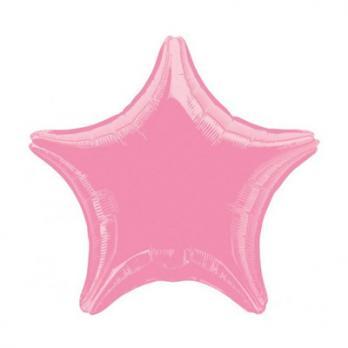 Шар фольга Звезда 45см. Металлик Розовый
