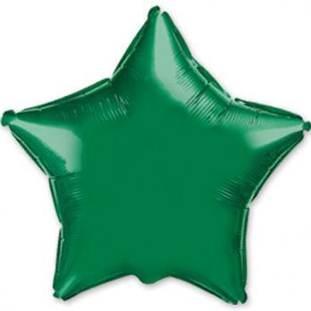 Шар фольга Звезда 90см. Металлик Зеленый