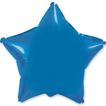 Шар фольга Звезда 90см. Металлик Синий
