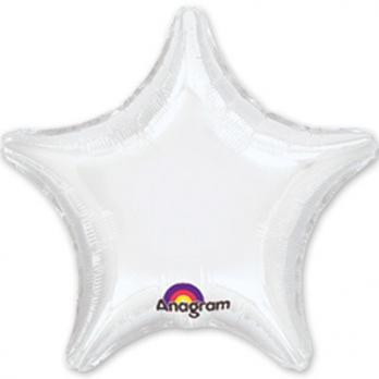 Шар фольга Звезда 45см. Пастель Белый