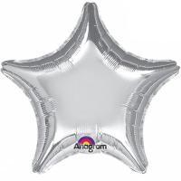 Шар фольга Звезда 45см. Металлик Серебро