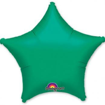 Шар фольга Звезда 45см. Металлик Зеленый