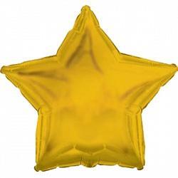 Шар фольга Звезда 45см. Металлик Золото