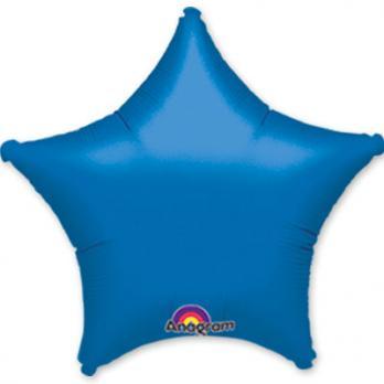 Шар фольга Звезда 45см. Металлик Синий