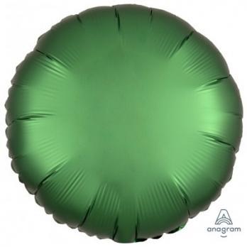 Шар фольга Круг 45см. Сатин Зеленый