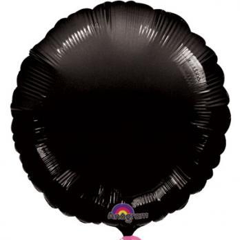 Шар фольга Круг 45см. Пастель Черный