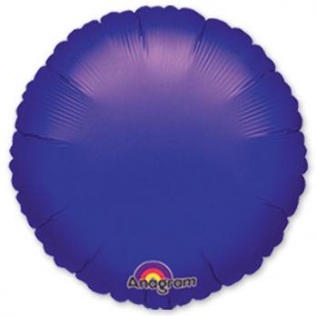 Шар фольга Круг 45см. Металлик Фиолетовый