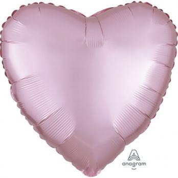 "Шар фольга ""Сердце 45см. Сатин Розовый"""