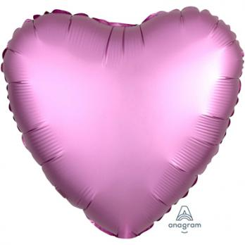 Шар фольга Сердце 45см. Сатин Сиреневый