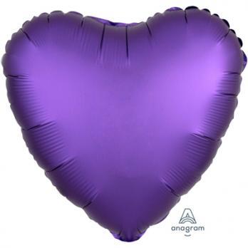 Шар фольга Сердце 45см. Сатин Фиолетовый