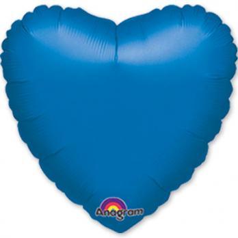 Шар фольга Сердце 45см. Металлик Синий