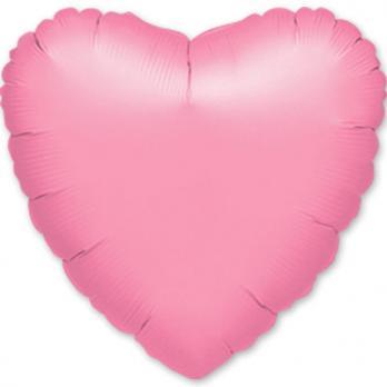 Шар фольга Сердце 45см. Металлик Сиреневый