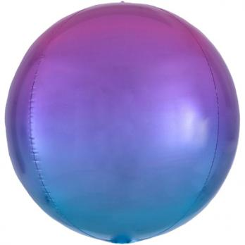 """Шар фольга """"Сфера 40см. Фиолетово-голубой"""""""