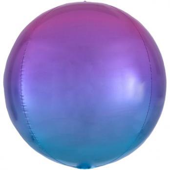 """Шар фольга Сфера 40см. Фиолетово-голубой"""""""
