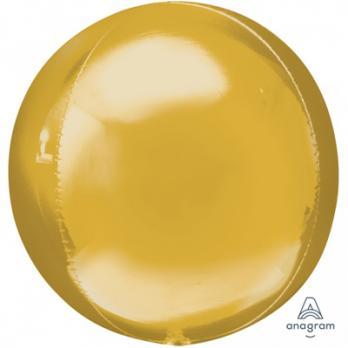 Шар фольга Сфера 55см. Металлик Золото