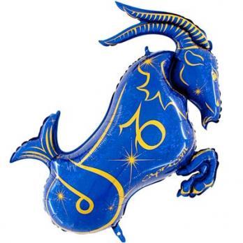 Шар фольга Зодиак Козерог синий