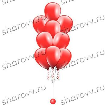 Фонтан из шаров Красный