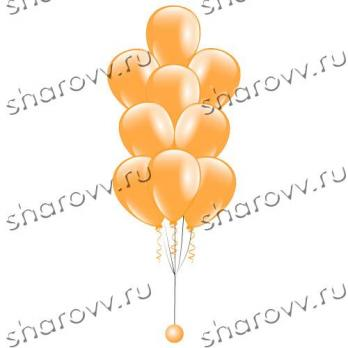"""Фонтан из шаров """"Оранжевый"""""""