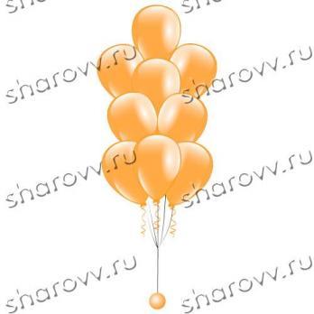 Фонтан из шаров Оранжевый