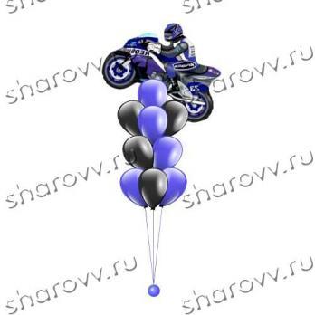 Синий мотоцикл