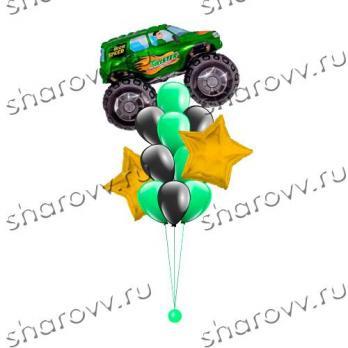 Звездный джип зеленый