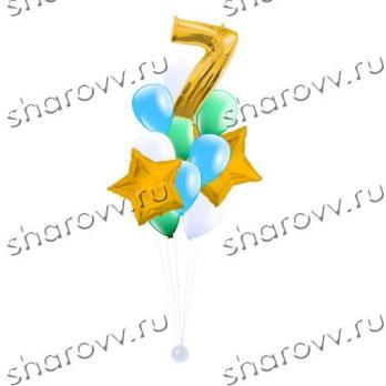 """Фонтан из шаров """"Звездная мелодия"""""""