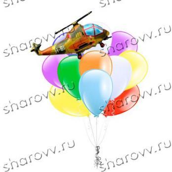 """Букет из шаров """"Вертолет"""""""