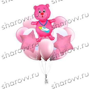 Букет из шаров С рождением доченьки