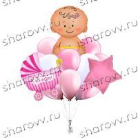 Букет из шаров Привет малышка