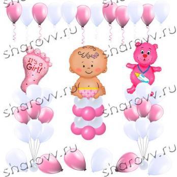 Оформление шарами Для девочки