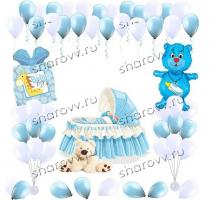 """Пакет украшение шарами """"Нашему малышу"""""""