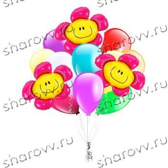 """Букет из шаров """"Три цветочка"""""""