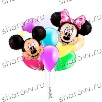 """Облако из шаров Привет от Минни и Микки"""""""