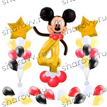 Оформление шариками Микки и звезды