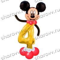 Фигура из шаров Микки цифра