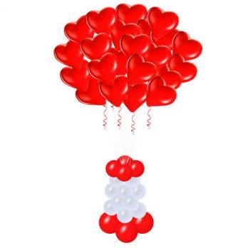 "Облако шариков сердец ""Люблю тебя"""