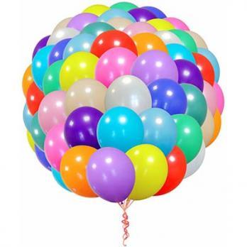 100 воздушных шаров с обработкой