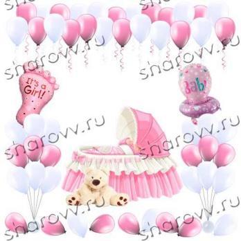 Оформление воздушными шарами Комната малышки