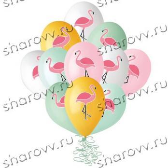 """Шары латекс """"Фламинго"""""""